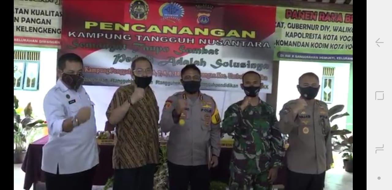 Pencanangan Kampung Tangguh Nusantara Kampung Ponggalan Kelurahan Giwangan