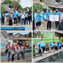 Bendung Lepen Giwangan Sebagai Finish Peluncuran Jalur Sepeda Wisata Kota Yogyakarta